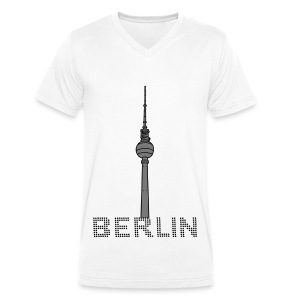 Berlin TV Tower 2 T-Shirts - Men's Organic V-Neck T-Shirt by Stanley & Stella