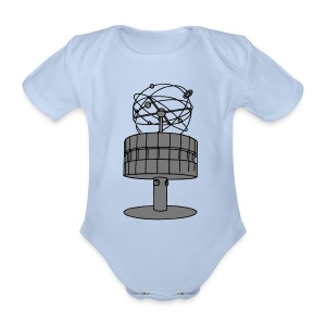 World time clock Berlin 2 Shirts - Organic Short-sleeved Baby Bodysuit