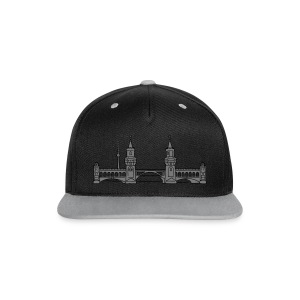 Oberbaum Bridge in Berlin 2 Caps & Hats - Contrast Snapback Cap