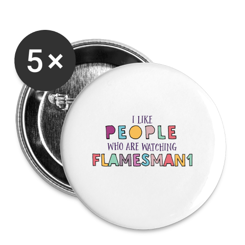 i-Like-people (unisex) - Buttons/Badges stor, 56 mm