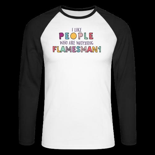 i-Like-people (unisex) - Langærmet herre-baseballshirt