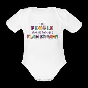 i-Like-people (unisex) - Kortærmet babybody, økologisk bomuld