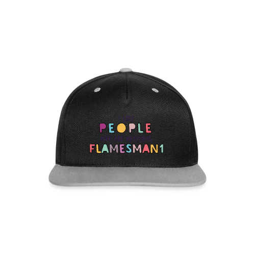 i-Like-people (unisex) - Kontrast snapback cap
