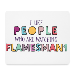 i-Like-people (unisex) - Mousepad (bredformat)