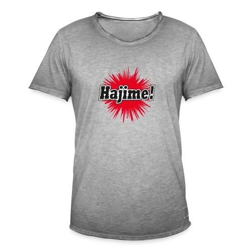 Hajime! - Männer Vintage T-Shirt