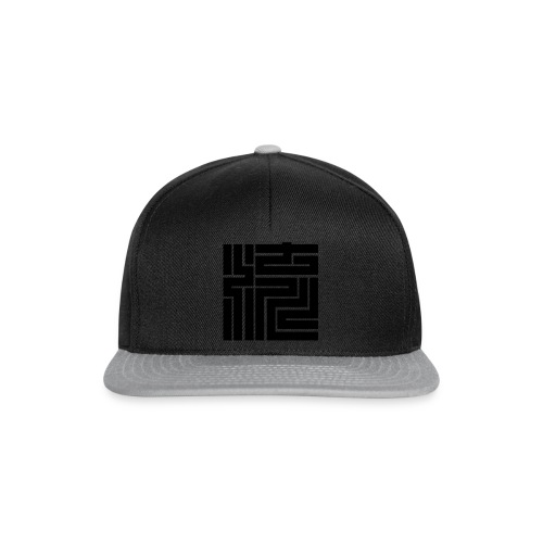 Nagare Daiko Blockschrift Basecap Flockdruck - Snapback Cap