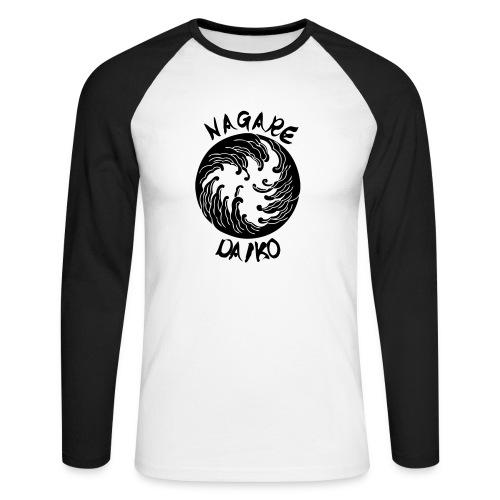 Nagare Daiko Logo Plüschbär Lasertransfer - Männer Baseballshirt langarm