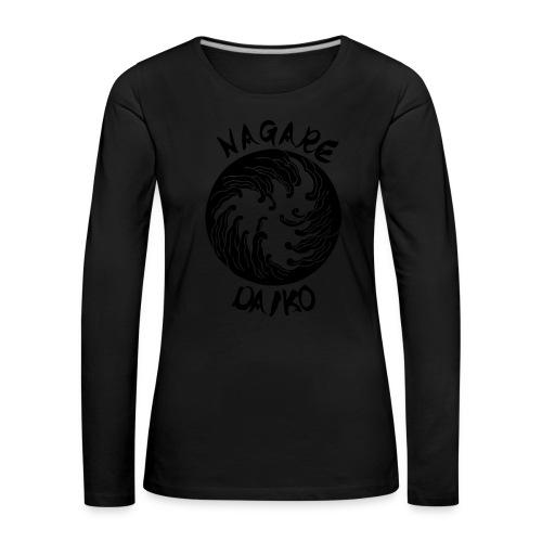Nagare Daiko Logo Plüschbär Lasertransfer - Frauen Premium Langarmshirt