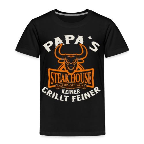 BBQ Papas Steakhouse - Geburtstags Geschenk - RAHMENLOS Shirt Design - Kinder Premium T-Shirt