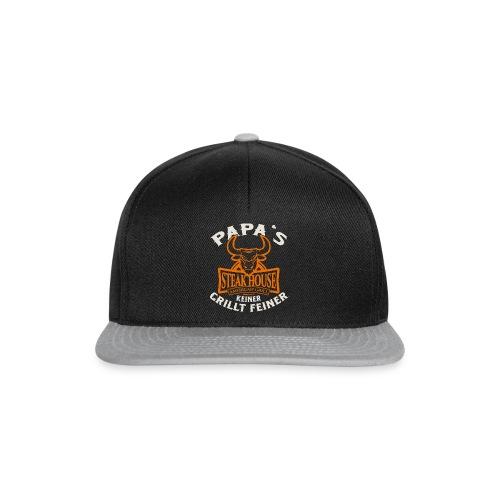 BBQ Papas Steakhouse - Geburtstags Geschenk - RAHMENLOS Shirt Design - Snapback Cap