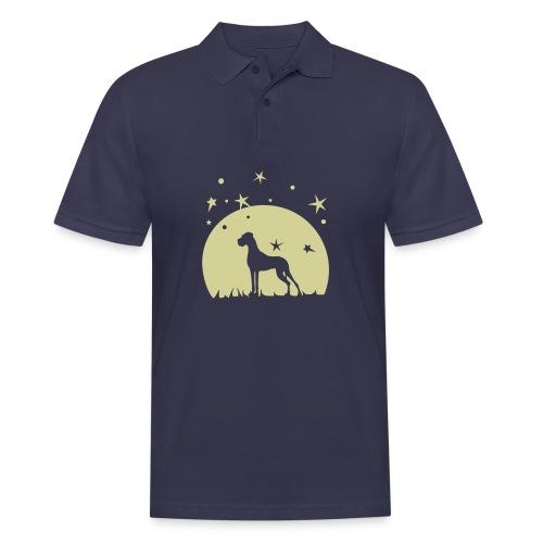 Leuchtet im Dunkeln nach - Männer Poloshirt