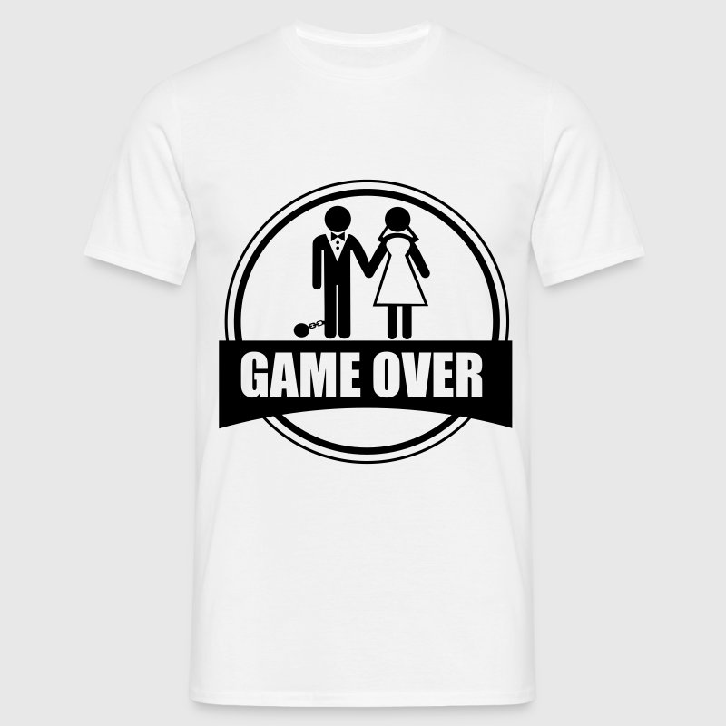 Game over,  despedida, de, soltero - Camiseta hombre