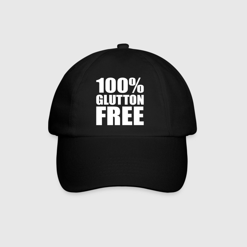 100% Glutton Free - Diet Humour Caps & Hats - Baseball Cap