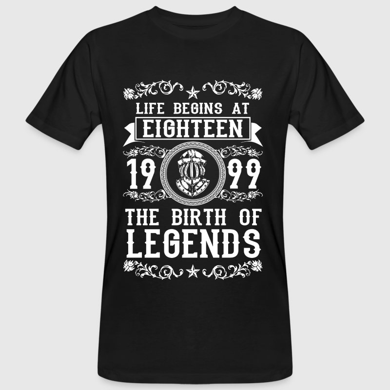 1999- 18 years - Legends - 2017 Tee shirts - T-shirt bio Homme