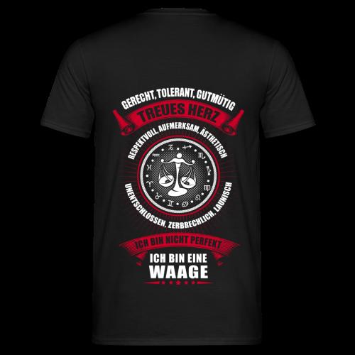 Waage Sternzeichen  - Männer T-Shirt