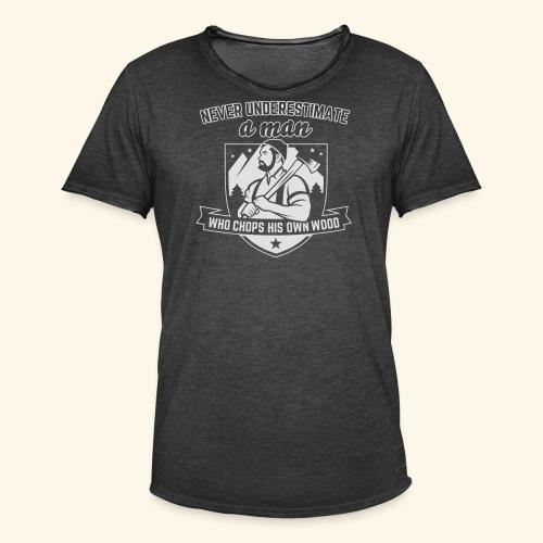 Holzfäller - Männer Vintage T-Shirt