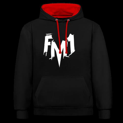 FM1 - Punky (unisex) - Kontrast-hættetrøje