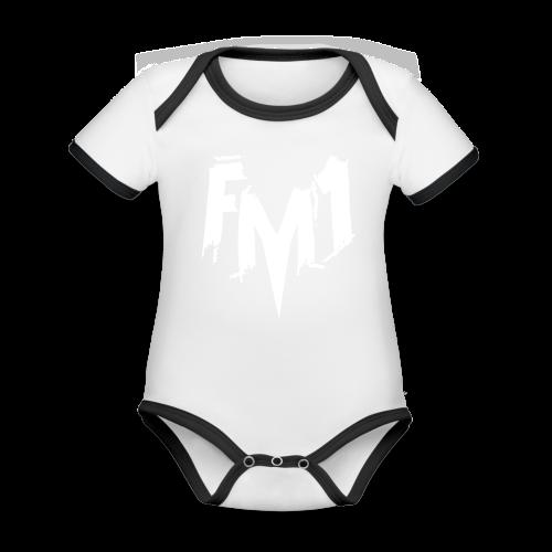 FM1 - Punky (unisex) - Kortærmet ækologisk babybody i kontrastfarver