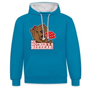 ME MOTHER'S A BEAR! - Womens - Contrast Colour Hoodie