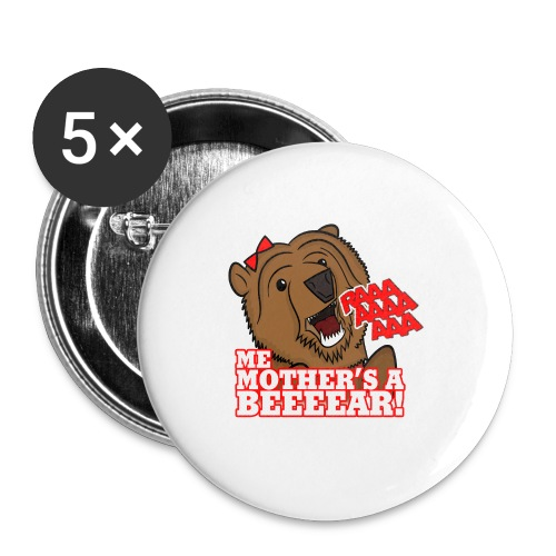 ME MOTHER'S A BEAR! - Womens - Buttons medium 1.26/32 mm (5-pack)