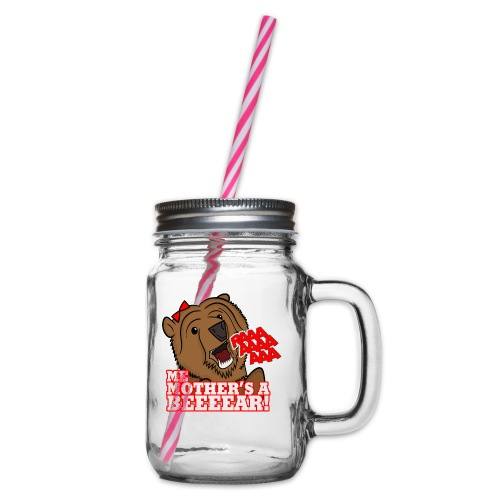 ME MOTHER'S A BEAR! - Womens - Glass jar with handle and screw cap