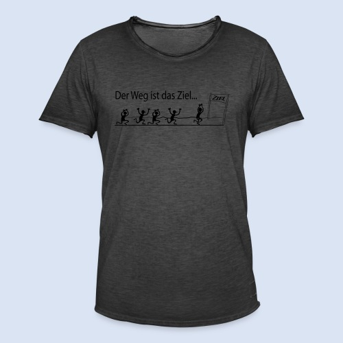 Mein Ziel Marathon – Stadtmarathon - Männer Vintage T-Shirt