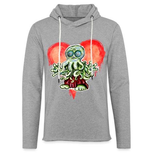 I Love Cthulu - Leichtes Kapuzensweatshirt Unisex