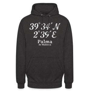Palma de Mallorca Koordinaten Vintage Weiß S-5XL T-Shirt - Unisex Hoodie