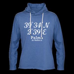 Palma de Mallorca Koordinaten Vintage Weiß S-5XL T-Shirt - Leichtes Kapuzensweatshirt Unisex