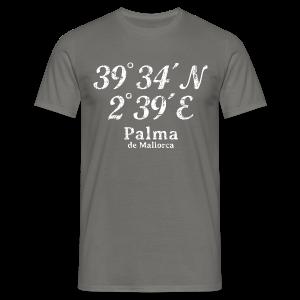 Palma de Mallorca Koordinaten Vintage Weiß S-5XL T-Shirt - Männer T-Shirt