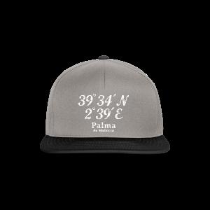 Palma de Mallorca Koordinaten Vintage Weiß S-5XL T-Shirt - Snapback Cap
