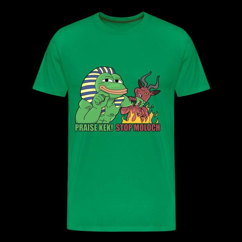 PRAISE KEK! STOP MOLOCH - Männer Premium T-Shirt