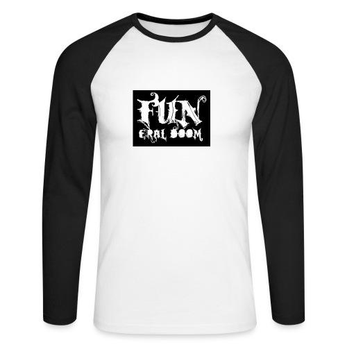 FUNeral doom bear - Men's Long Sleeve Baseball T-Shirt