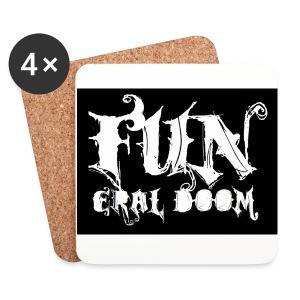 FUNeral doom bear - Coasters (set of 4)