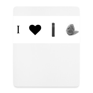 i love post rock bear - Mouse Pad (vertical)