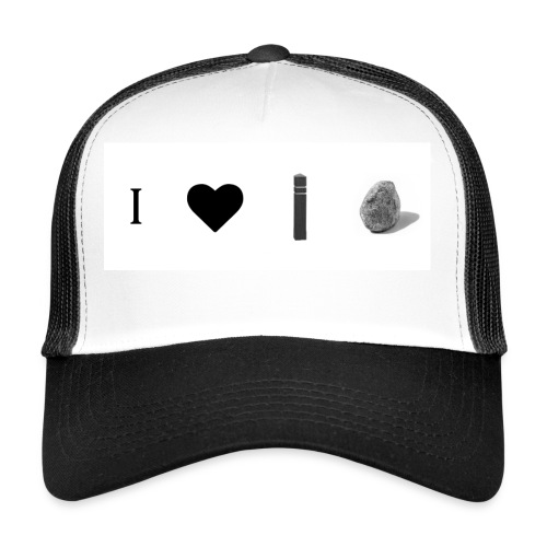 i love post rock bear - Trucker Cap