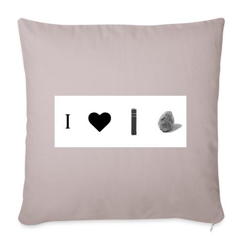 i love post rock bear - Sofa pillow cover 44 x 44 cm