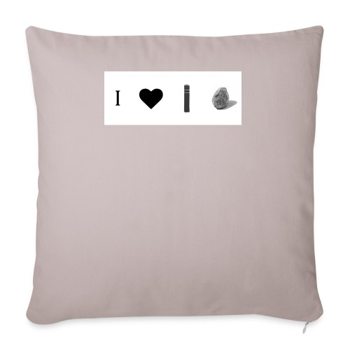 i love post rock bear - Sofa pillowcase 17,3'' x 17,3'' (45 x 45 cm)