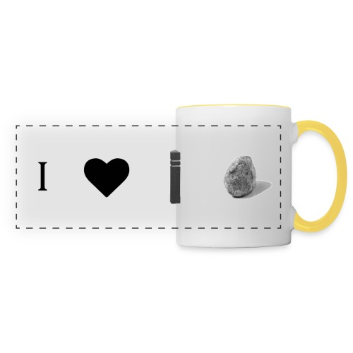 i love post rock bear - Panoramic Mug