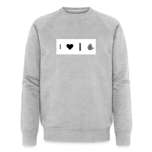 i love post rock bear - Men's Organic Sweatshirt by Stanley & Stella
