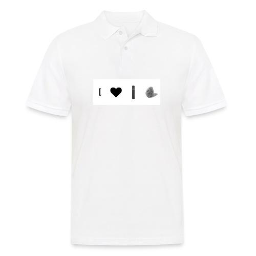 i love post rock bear - Men's Polo Shirt