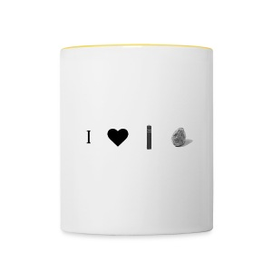 i love post rock bear - Contrasting Mug