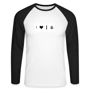 i love post rock bear - Men's Long Sleeve Baseball T-Shirt