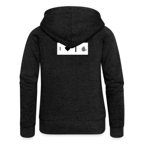 i love post rock bear - Women's Premium Hooded Jacket