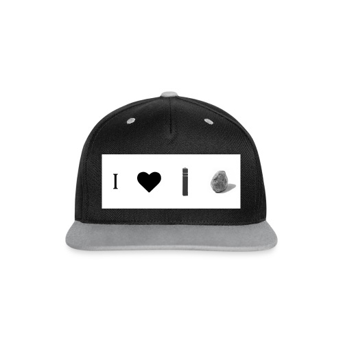 i love post rock bear - Contrast Snapback Cap