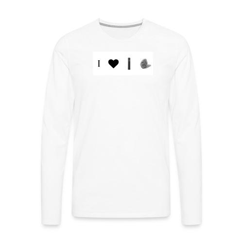 i love post rock bear - Men's Premium Longsleeve Shirt