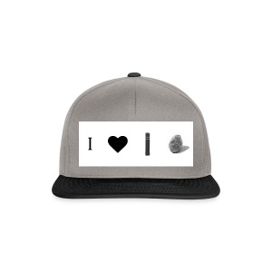 i love post rock bear - Snapback Cap