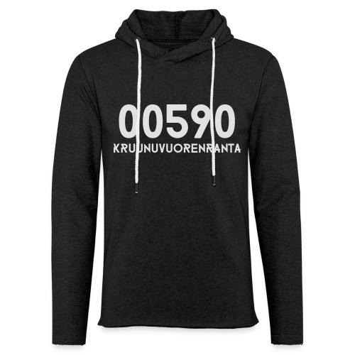 00590 KRUUNUVUORENRANTA - Kevyt unisex-huppari