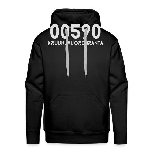 00590 KRUUNUVUORENRANTA - Miesten premium-huppari