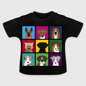 new 3 x 3 dogs Shirts - Baby T-Shirt